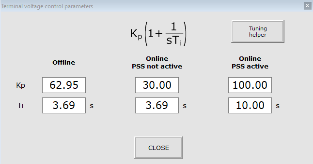 transfer function parameters